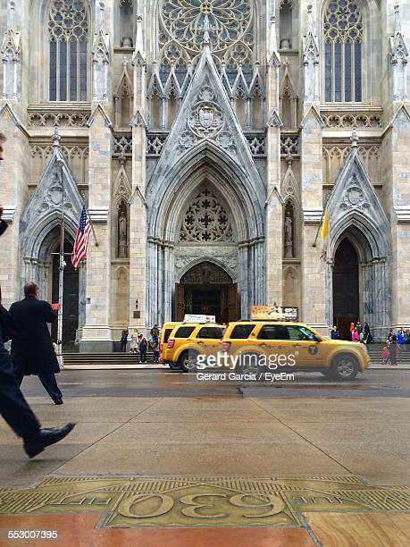 Taxi Cabs In Front Of St. Patrick Cathedral