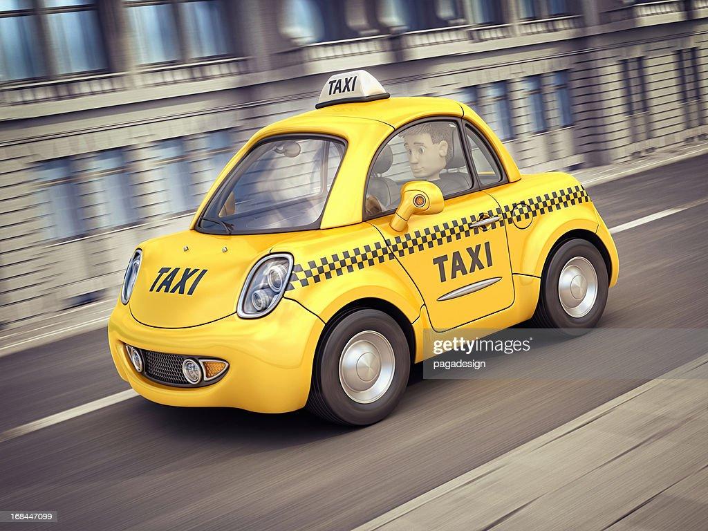 お車で街のタクシー : ストックフォト
