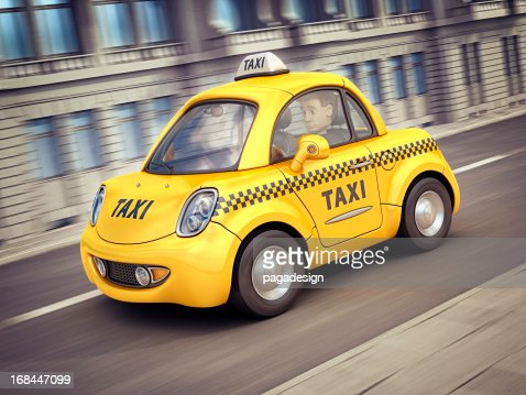 taxi Auto in der Stadt : Stock-Foto