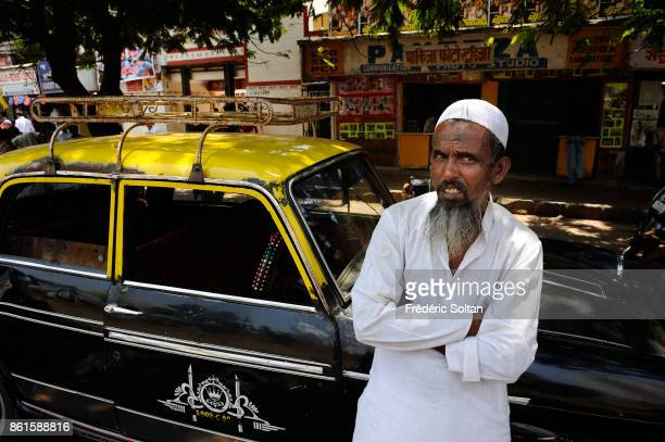 Taxi driver in Mumbai on March 15 2014 in Mumbai India