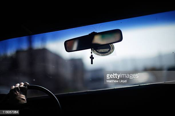 A taxi driver makes the journey from Beirut in Lebanon across the Syrian border to Damascus on March 29 2011 in Syria President Bashar alAssad is...