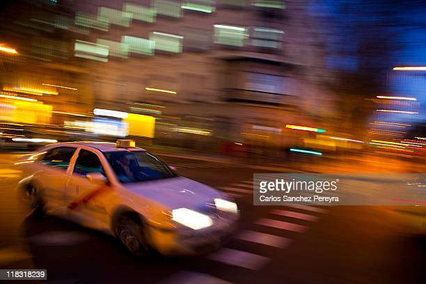 A taxi in Madrid