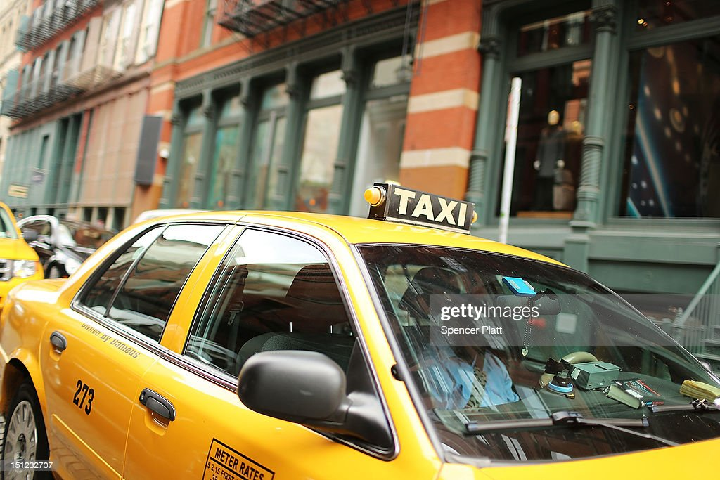 A taxi is viewed on September 4 2012 in New York City As of Tuesday yellow taxis may begin charging more following an approved fare increase for...