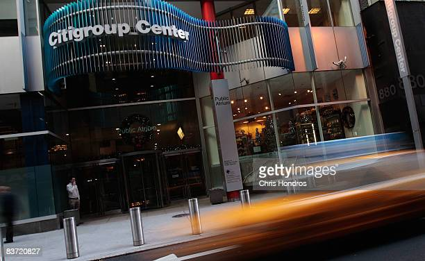 A taxi passes in front of the Citigroup Center November 17 2008 in New York City Citigroup Inc announced that it is cutting 53000 jobs as it...