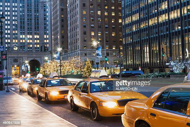 Taxi stand, New York City, New York State, USA