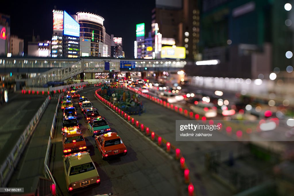 Taxi stand : Stock Photo