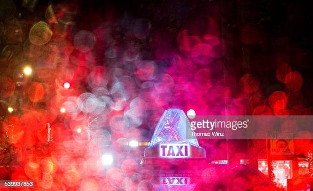 Taxi top at night