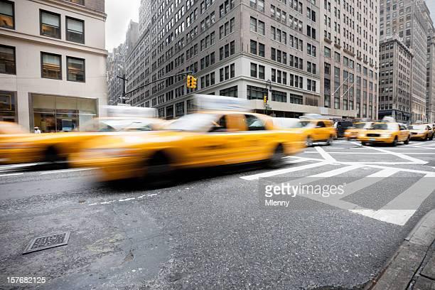 La circulation des taxis de New York