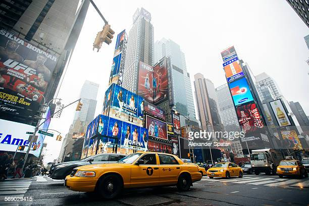 Taxis at Times Square, New York City, USA