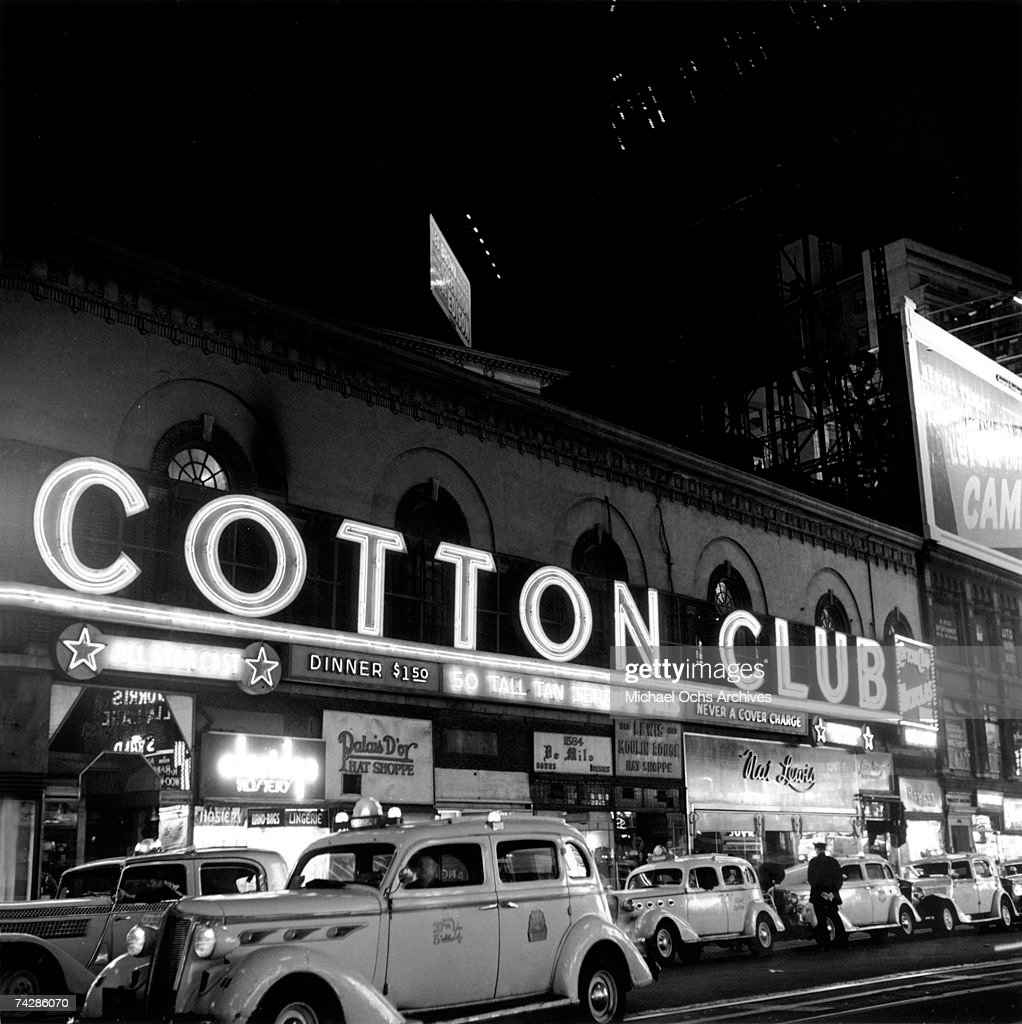 Taxis line up out side of the Cotton Club at Broadway and 48th Street circa 1938 in New York City, New York.