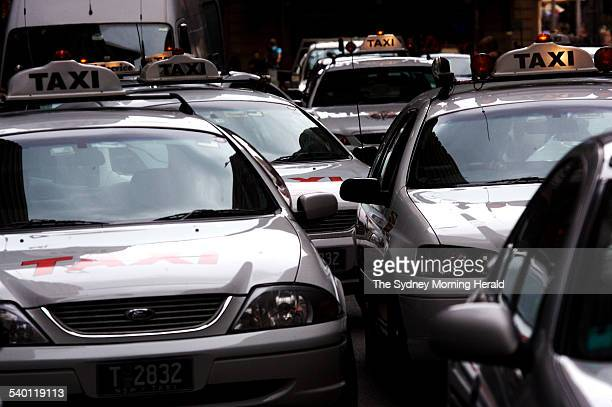 Taxis on Market Street in Sydney 29 December 2006 SMH NEWS Picture by WADE LAUBE