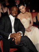 Taye Diggs and Idina Menzel during 61st Annual Tony Awards Backstage and Audience at Radio City Music Hall in New York City New York United States