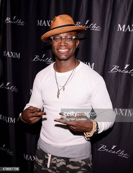 Taye Diggs attends Maxim Celebrates The Breathe Vape Smart Launch In NYC With Music Curated By Series at the Dream Hotel on June 25 2015 in New York...