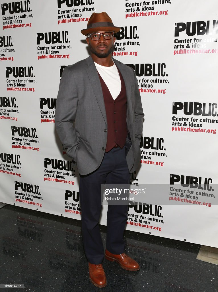 <a gi-track='captionPersonalityLinkClicked' href=/galleries/search?phrase=Taye+Diggs&family=editorial&specificpeople=206415 ng-click='$event.stopPropagation()'>Taye Diggs</a> attends the opening night celebration of 'Fun Home' at The Public Theater on October 22, 2013 in New York City.