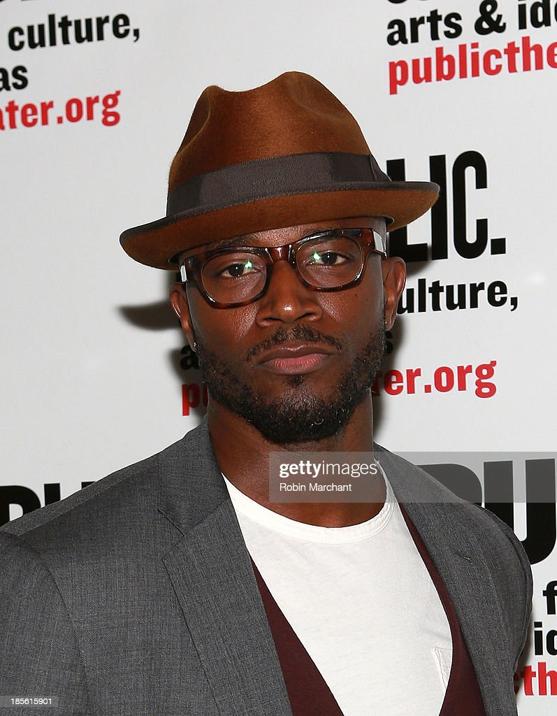 Taye Diggs attends the opening night celebration of 'Fun Home' at The Public Theater on October 22, 2013 in New York City.