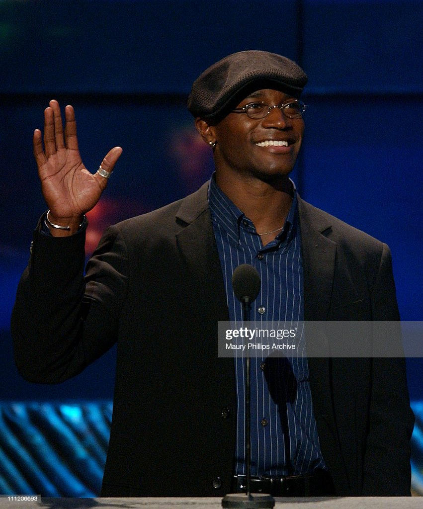 <a gi-track='captionPersonalityLinkClicked' href=/galleries/search?phrase=Taye+Diggs&family=editorial&specificpeople=206415 ng-click='$event.stopPropagation()'>Taye Diggs</a> during The 8th Annual Soul Train 'Lady of Soul' Awards - Show at Pasadena Civic Auditorium in Pasadena, California, United States.