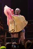 Taye Diggs performs onstage during the 'Hedwig and the Angry Inch' Broadway final performance at the Belasco Theatre on September 13 2015 in New York...
