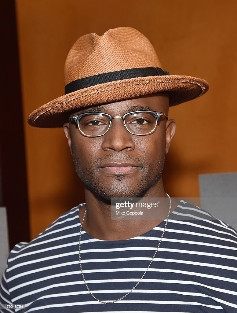 Taye Diggs poses for a picture at Broadway's 'Hedwig And The Angry Inch' Cast Photocall at The Lambs Club on June 30 2015 in New York City