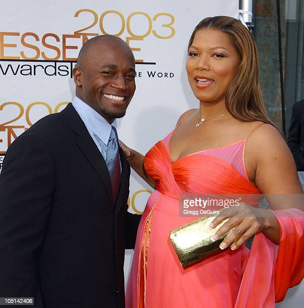Taye Diggs Queen Latifah during 2003 Essence Awards Arrivals at Kodak Theatre in Hollywood California United States
