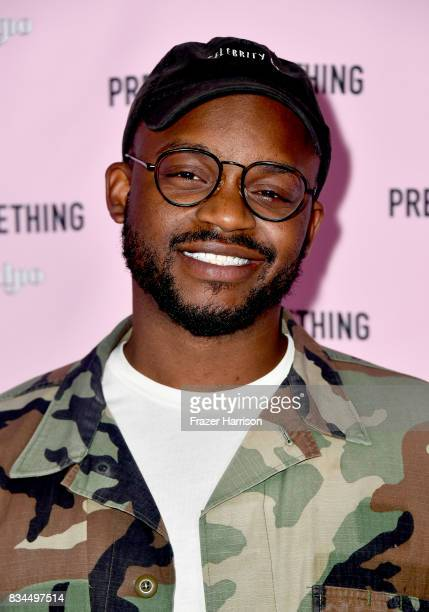Taye James attends PrettyLittleThing X Olivia Culpo Launch at Liaison Lounge on August 17 2017 in Los Angeles California
