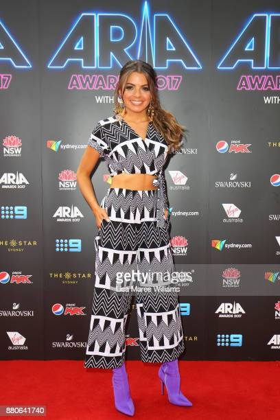 Tayla Mae arrives for the 31st Annual ARIA Awards 2017 at The Star on November 28 2017 in Sydney Australia