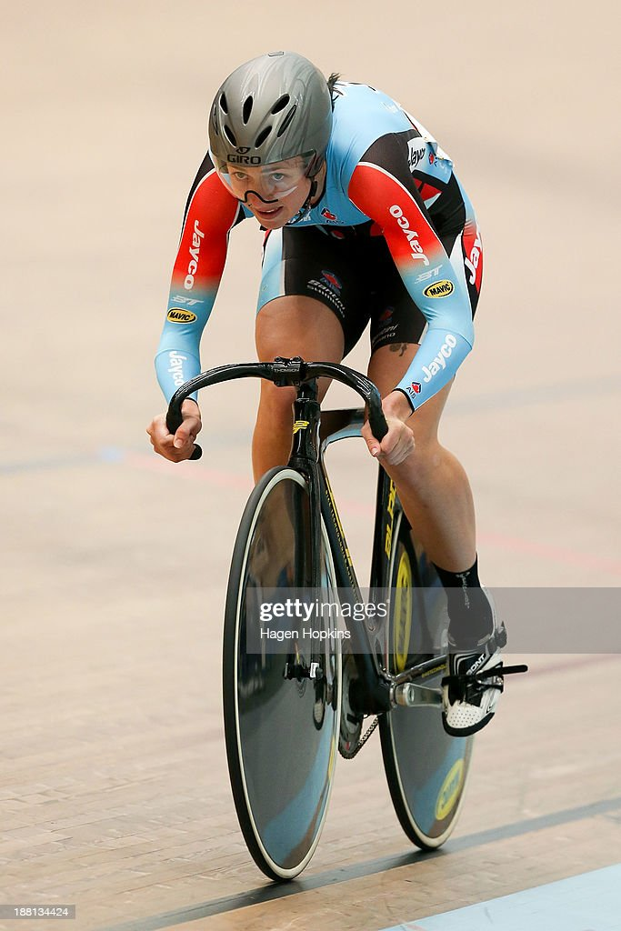 Taylah Jennings of Australia competes in the women's sprint during the 2013 UCI Festival of Speed at SIT Zerofees Velodrome on November 16 2013 in...
