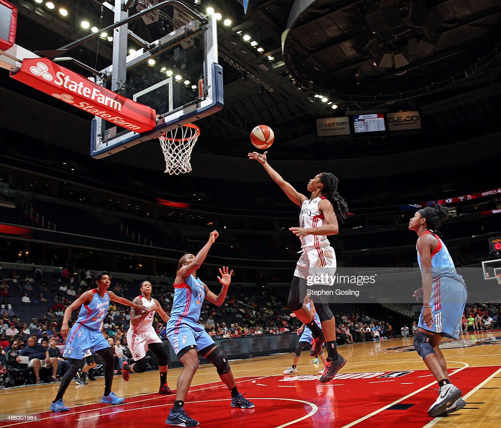 <a gi-track='captionPersonalityLinkClicked' href=/galleries/search?phrase=Tayler+Hill&family=editorial&specificpeople=5791962 ng-click='$event.stopPropagation()'>Tayler Hill</a> #4 of the Washington Mystics drives to the basket against the Atlanta Dream on September 13, 2015 at the Verizon Center in Washington, DC.