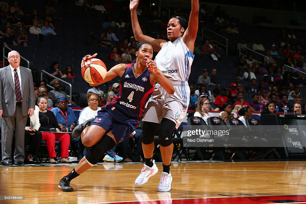 <a gi-track='captionPersonalityLinkClicked' href=/galleries/search?phrase=Tayler+Hill&family=editorial&specificpeople=5791962 ng-click='$event.stopPropagation()'>Tayler Hill</a> #4 of the Washington Mystics drives to the basket against the Minnesota Lynx during game on June 26, 2016 at Verizon Center in Washington, District of Columbia.