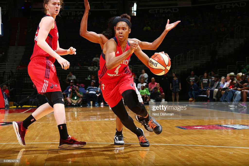 <a gi-track='captionPersonalityLinkClicked' href=/galleries/search?phrase=Tayler+Hill&family=editorial&specificpeople=5791962 ng-click='$event.stopPropagation()'>Tayler Hill</a> #4 of the Washington Mystics drives to the basket against the San Antonio Stars on June 29, 2016 at the Verizon Center in Washington, DC.
