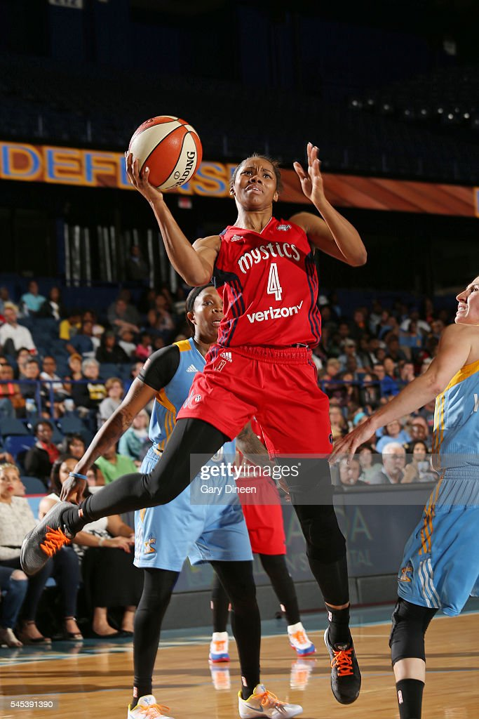 Tayler Hill of the Washington Mystics goes for a lay up against the Chicago Sky on July 1 2016 at Allstate Arena in Rosemont IL NOTE TO USER User...