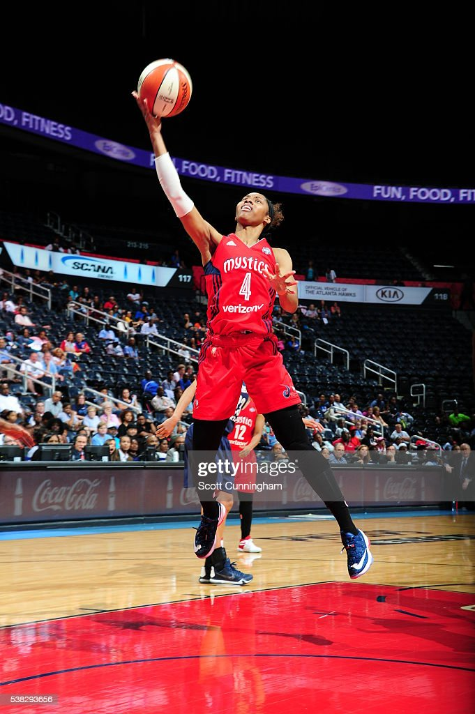 <a gi-track='captionPersonalityLinkClicked' href=/galleries/search?phrase=Tayler+Hill&family=editorial&specificpeople=5791962 ng-click='$event.stopPropagation()'>Tayler Hill</a> #4 of the Washington Mystics shoots the ball against the Atlanta Dream on June 5, 2016 at Philips Arena in Atlanta, Georgia.