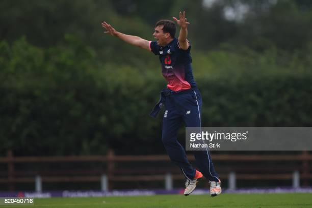 Tayler Young of England appeals during the INAS Learning Disability TriSeries Trophy Final match between England and South Africa on July 21 2017 in...