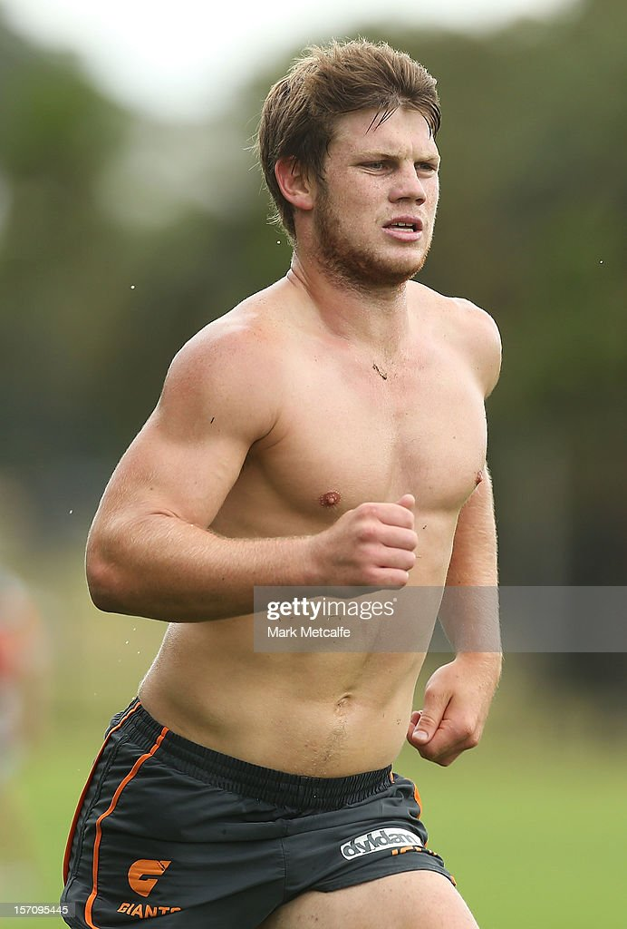 Taylor Adams in action during a Greater Western Sydney Giants AFL pre-season training session at Lakeside Oval on November 28, 2012 in Sydney, Australia.