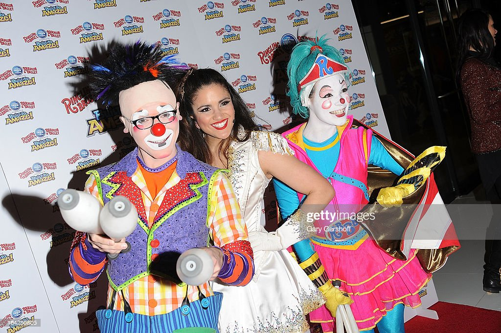 Taylor Albin, Ashley Vargas and Kelli Brown attend the Ringling Bros. and Barnum & Bailey 'Build To Amaze!' Opening Night at Barclays Center on March 21, 2013 in the Brooklyn borough of New York City.