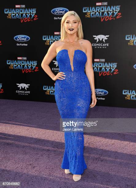 Taylor Ann Hasselhoff attends the premiere of 'Guardians of the Galaxy Vol 2' at Dolby Theatre on April 19 2017 in Hollywood California