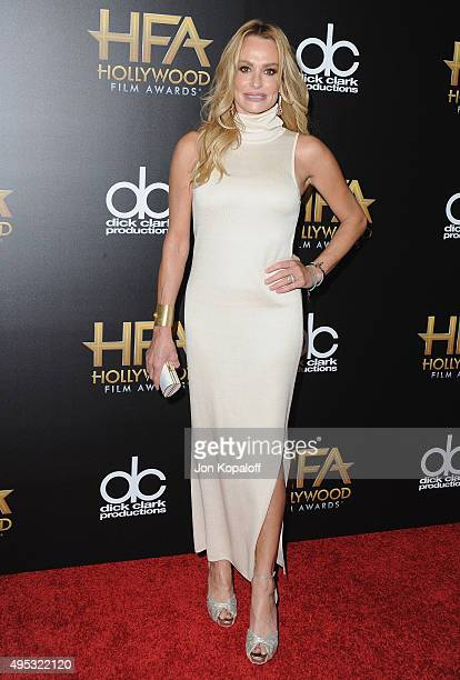 Taylor Armstrong arrives at the 19th Annual Hollywood Film Awards at The Beverly Hilton Hotel on November 1 2015 in Beverly Hills California