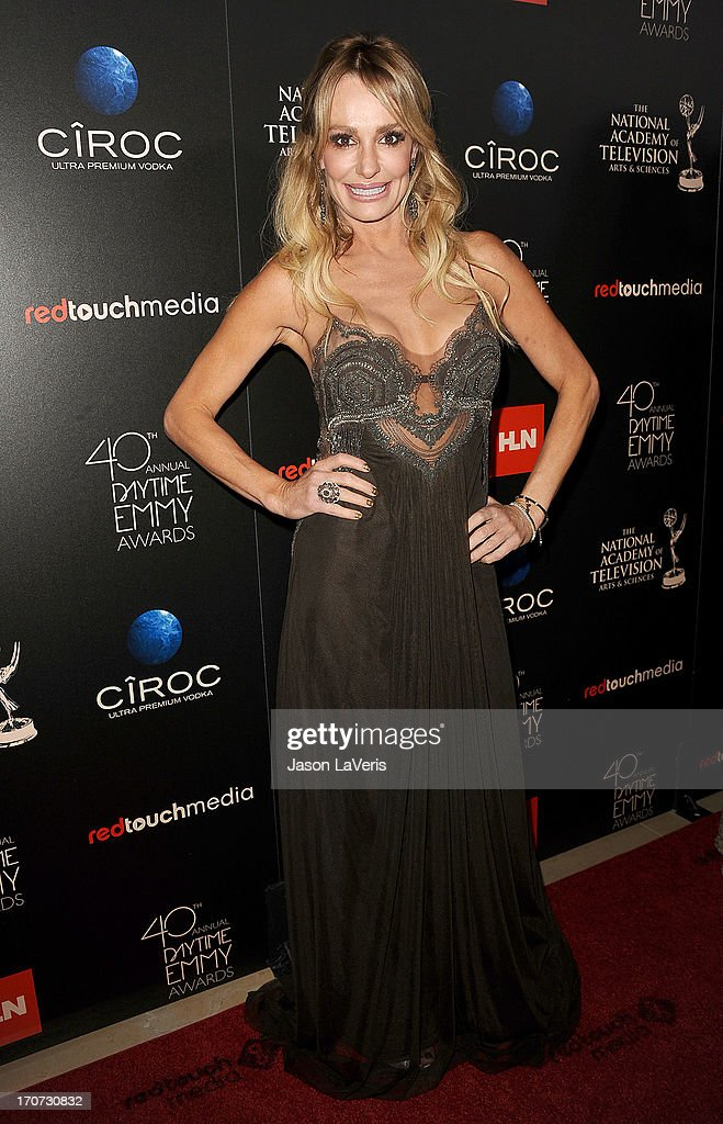 <a gi-track='captionPersonalityLinkClicked' href=/galleries/search?phrase=Taylor+Armstrong&family=editorial&specificpeople=6903739 ng-click='$event.stopPropagation()'>Taylor Armstrong</a> attends the 40th annual Daytime Emmy Awards at The Beverly Hilton Hotel on June 16, 2013 in Beverly Hills, California.