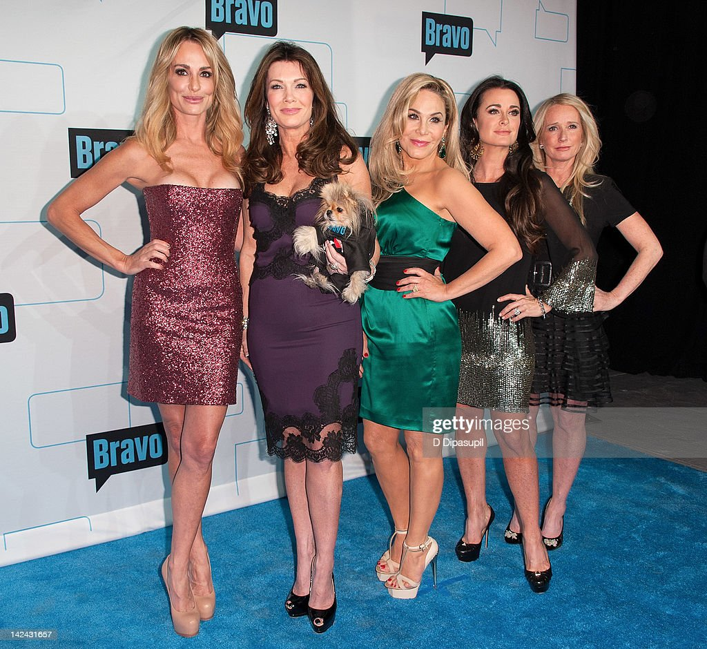 Taylor Armstrong, Lisa Vanderpump, Adrienne Maloof, Kyle Richards, and Kim Richards of Real Housewives of Beverly Hills attend Bravo Upfront 2012 at Center 548 on April 4, 2012 in New York City.