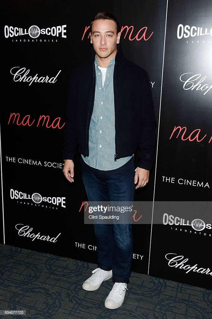 Taylor Bennett attends The Cinema Society and Chopard Host a Screening of Oscilloscope's 'ma ma' at Landmark Sunshine Theatre on May 24, 2016 in New York City.