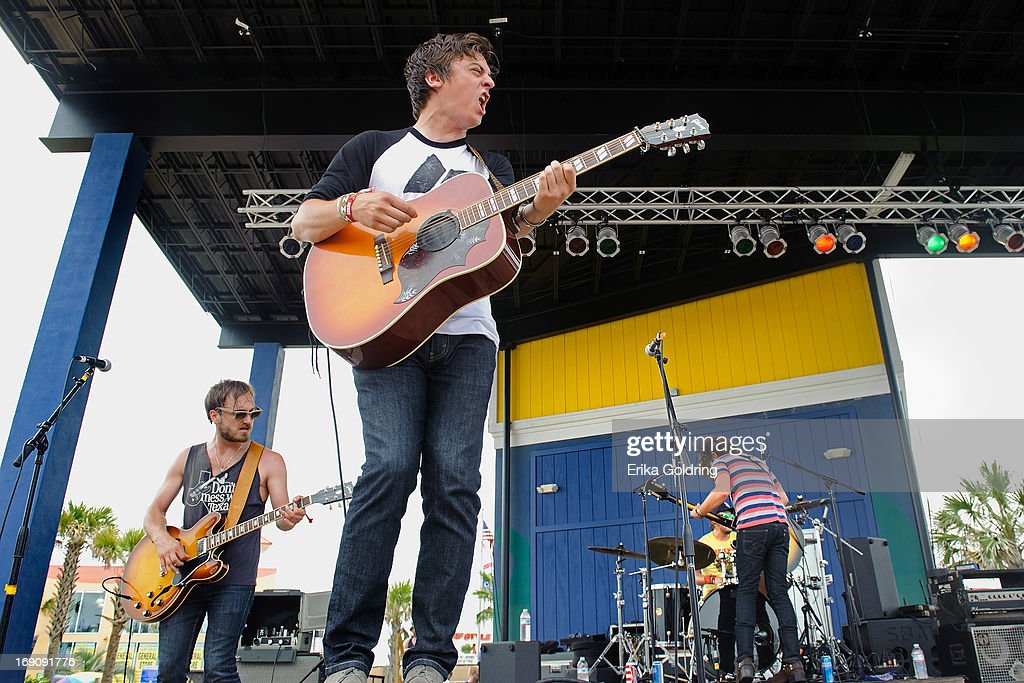 Taylor Burns, Ricky Young, Ben Jarvis and Joel King of The Wild Feathers perform during the 2013 Hangout Music Festival on May 19, 2013 in Gulf Shores, Alabama.