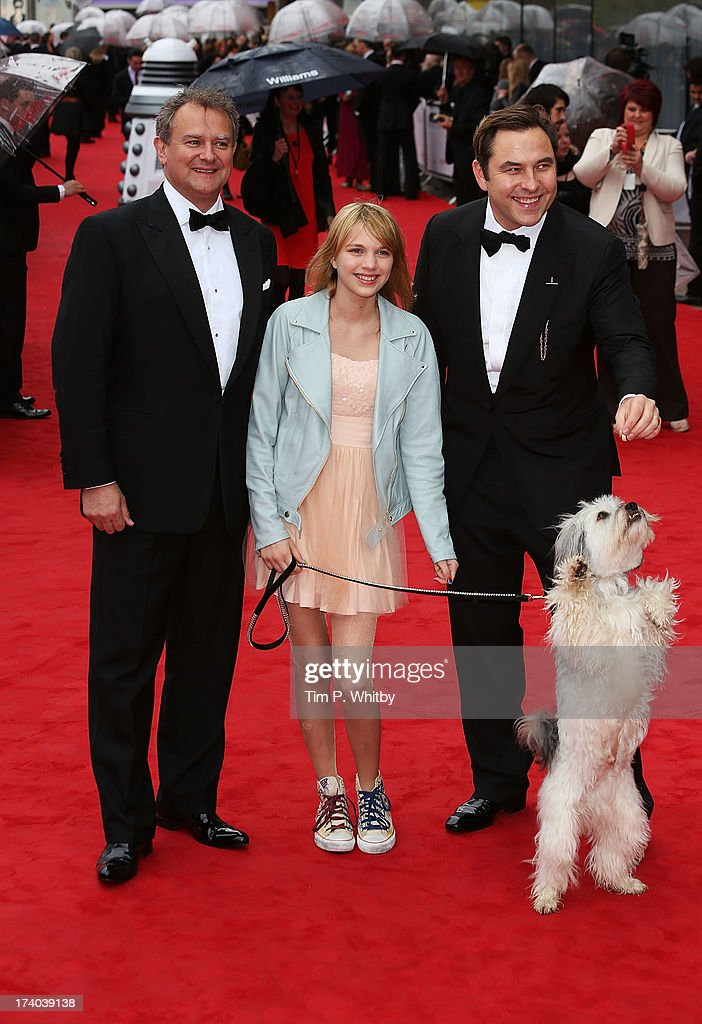 Taylor Butler, David Walliams and Pudsey the dog attend the Arqiva British Academy Television Awards 2013 at the Royal Festival Hall on May 12, 2013 in London, England.
