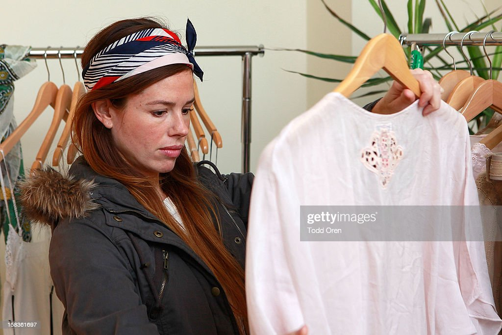 Taylor Cathcart shops at the Johnny Was Holiday Gifting Suite at Chateau Marmont on December 13, 2012 in Los Angeles, California.