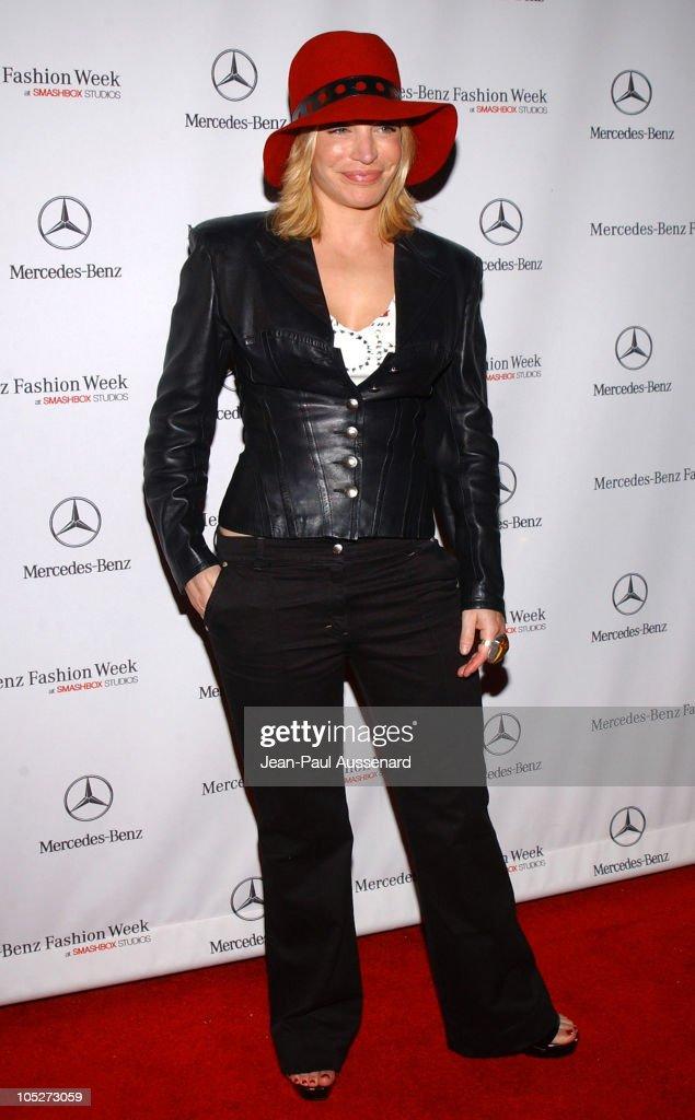 Taylor Dayne during MercedesBenz Fall 2004 Fashion Week at Smashbox Studios Day 3 Arrivals at Smashbox Studios in Culver City California United States