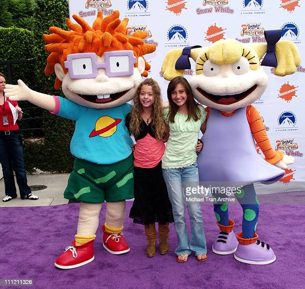 Taylor Dooley and Sasha Pieterse with the Rugrats during Nickelodeon Presents Fairypalooza Premiere for 'Rugrats Tales From The Crib Snow White'...