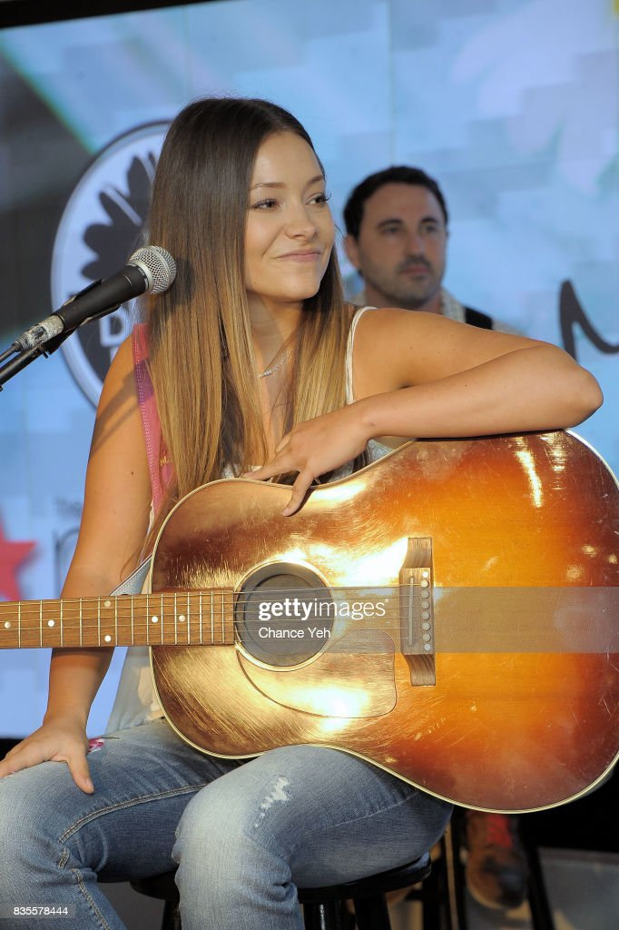 Taylor Dye of Maddie & Tae performs at Macy's at Macy's Herald Square on August 19, 2017 in New York City.