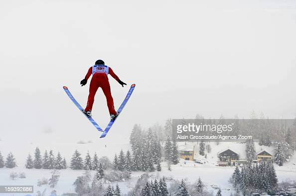 Taylor Fletcher of the United States competes during the FIS Nordic Combined World Cup Team Sprint on January 13 2013 in ChauxNeuve France