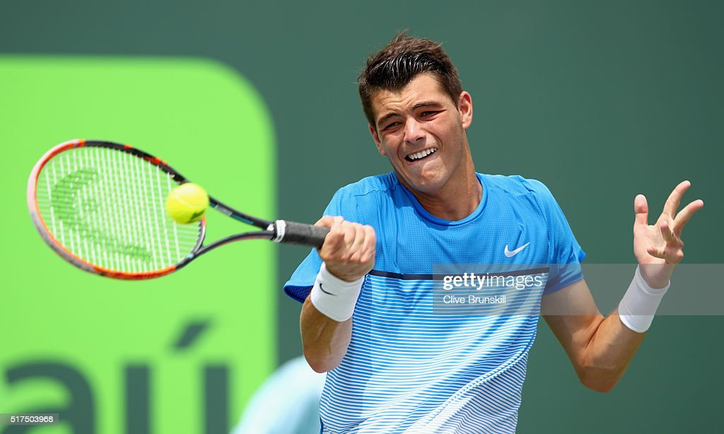 Crandon (WI) United States  city images : Taylor Fritz of the United States plays a forehand against David ...