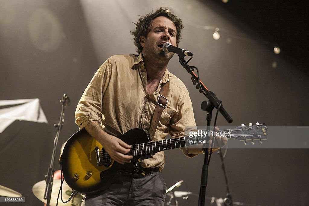 Taylor Goldsmith of Dawes performs at Portsmouth Guildhall on November 22, 2012 in Portsmouth, England.