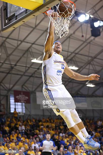 Taylor Griffin of the Santa Cruz Warriors plays against the Fort Wayne Mad Ants during the NBA DLeague Finals game on April 26 2015 at Kaiser...