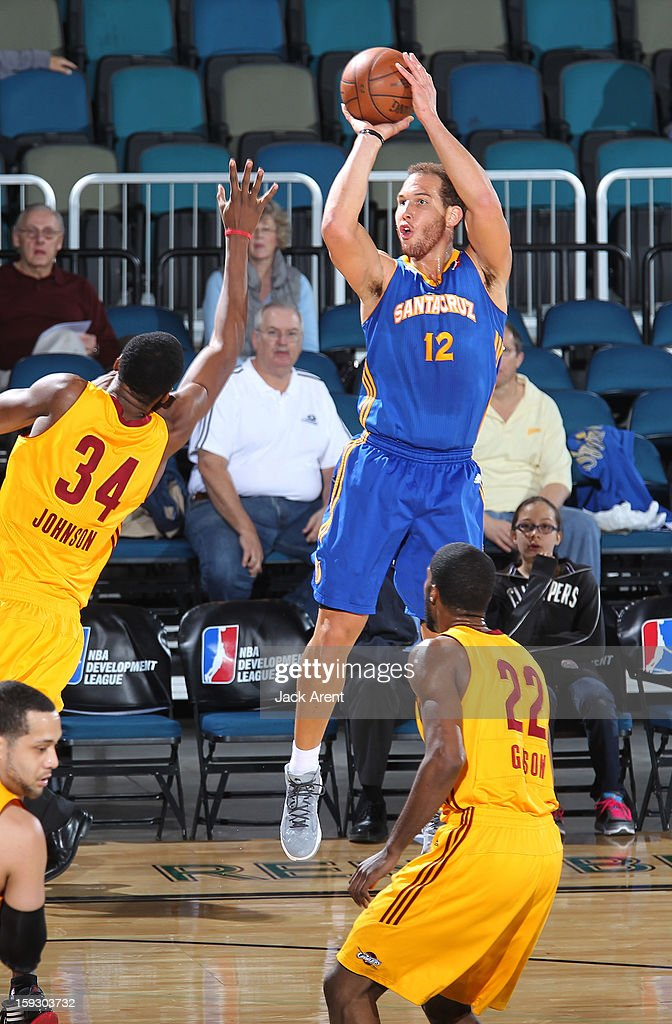 Taylor Griffin #12 of the Santa Cruz Warriors shoots the ball against the Canton Charge during the 2013 NBA D-League Showcase on January 10, 2013 at the Reno Events Center in Reno, Nevada.